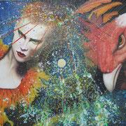Paradiesvögel, 2015, Öl auf Leinwand, 150 x 170 cm