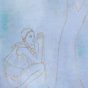 TALKING TO TREES 3 2021 Acryl auf Sperrholzschnitt 180 x 140 cm