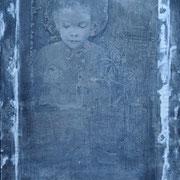 Mädchen dunkelgrau 2019 Acryl auf Leinwand 120 x 80 cm