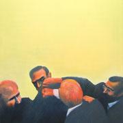 Fighters, Türkei 2014 Öl, Acryl, Sprühfarbe auf Leinwand  120 x 85 cm