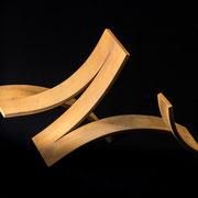 Gezeiten B 2018 Stahl gebogen  12 x 24 cm