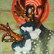 Look at me, 2014, Öl auf Leinwand, 100 x 80 cm