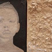 Diptychon - Mädchen 2019 Acryl auf Leinwand je: 24 x 18 cm