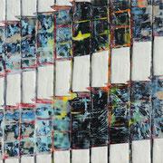 Chroniken 18 2019 Paraffin und Öl auf Papier 24,5 x 32 cm