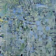 Blaue Landschaft 2019 Acryl auf Leinwand 150 x 50 cm
