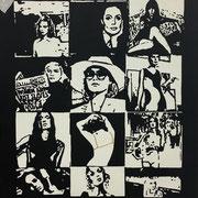 i_sujet 2019 Acryl auf Leinwand, Folie Unikat 140 x 100 cm