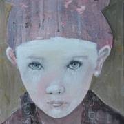 o.T. - Mädchen, 2012, Acryl auf Leinwand, 90 x 60 cm