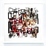 INTERFERENZEN 2.1 2020 Mixed Media  110 x 110 cm