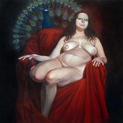 Hera und Argon 2013 Öl auf Leinwand  140 x 140 cm