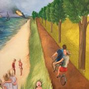 Dieser Weg (Diptychon - rechter Bildteil) 2016 Öl auf Leinwand  je: 140 x 110 cm zusammen: 140 x 220 cm