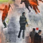 Demo 1 2018 Öl, Acryl auf Leinwand  20 x 60 cm