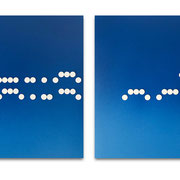 MORS FROM MARS VIII 2020 Biskuit-Porzellan & Lack auf MDF, 2-teilig: Die Heimat-Reihe: Hier rein – das raus je 50 x 50 x 5 cm