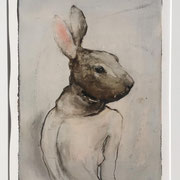 Monotypie: RABBIT (incl. Rahmen) 2019 Papier  60 x 50 cm