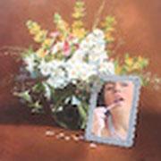 Blumenbilder 2 2009 Öl auf Leinwand 40 x 40 cm