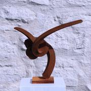 ROOT III 2014 Vierkantstahl gebogen/ geschmiedet H/B/T 29/32/19 cm