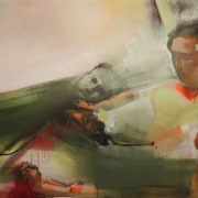 Judith beheading Holofernes 2018 Öl auf Leinwand  80 x 140 cm