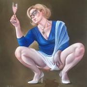 Champagner Pinky 2017 Öl auf Leinwand 90 x 87 cm