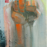 Faust - vive la resignation 2018 Öl und Acryl auf Leinwand  ca. 15 x 10 cm