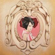 Sea Girl, 2010, Öl auf Holz, 40 x 40 cm