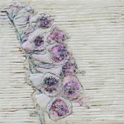 Über die Kunst Gras wachsen (zu) lassen, 15 2017 Paraffin und Acryl auf Nessel  20 x 20 cm