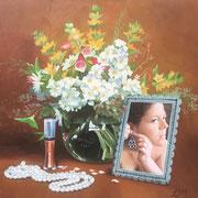 Blumenbilder 1 2009 Öl auf Leinwand 40 x 40 cm