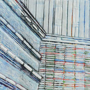Chroniken 15 2019 Paraffin und Öl auf Papier 24,5 x 32 cm