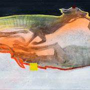 Greyhounds 1 2018 Acryl, Sprühlack auf Leinwand  31 x 75 cm
