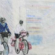 Chroniken 7, 2015, Praffin und Öl auf Papier, 30 x 40 cm