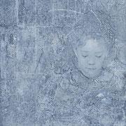 Madchen hellblau/grau 2019 Acryl auf Leinwand 100 x 70 cm