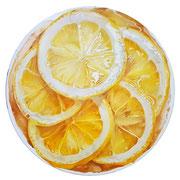 Lemon tart 2017 Öl auf Leinwand Ø 50 cm