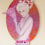 Habrosyne, 2010, Öl auf Holz, 112 x 76 cm