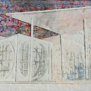 Kanzleramt 2019 Paraffin und Acryl auf Holz 34 x 42 cm