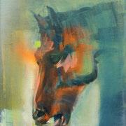 Bulls n Balls/ Portraits 6 2016 Öl, Acryl, Sprühfarbe auf Leinwand
