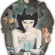 D´Eon, 2010, Öl auf Holz, 86 x 66 cm