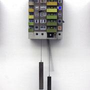 """Cuckoo Block """"Frankfurt"""", green Edition, serielles Unikat  Ed. 25 ca. 90 x 27 x 18 cm"""