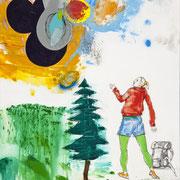 DIE WOLKEN, 2010, Mischtechnik auf Leinwand, 90 x 70 cm