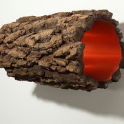 Spaceship (406/407)  2016 Kupfer, Holz Unikat, Nr. 4/7 oder 6/7  33 x L 76 cm