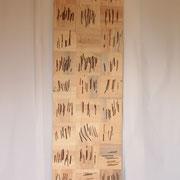 Lifelines 2018 Pappelholzrelief ca. 240 x 70 x 3,5 cm