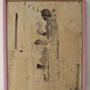 Trichtern, 2016, Relief Linde, 39 x 51 x 3,5 cm