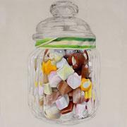 Candy, 2014, Mischtechnik auf Leinwand, 90 x 90 cm