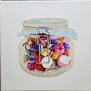 Candy (Glas) 2017 Mixed Media auf Leinwand 30 x 30 cm