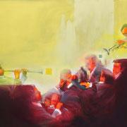 Strain ensemble 2018 Öl, Acryl auf Leinwand  124 x 160 cm