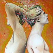 Haltung, 2014, Öl auf Leinwand, 100 x 80 cm