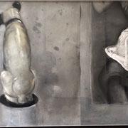 NIPPER incl. Rahmen 2021 Kohle, Kreide auf Papier incl. Rahmen: 75 x 185 cm