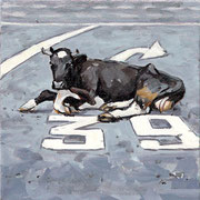 MARKIERUNG V 2020 Öl auf Leinwand 20 x 20 cm