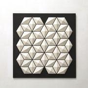 Cluster I  2017 Porzellan auf pigmentierter Holzfaser, 49 teilig 60 x 60 x 4 cm