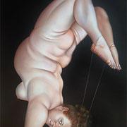 Fadenscheinige Balance 2010 Öl auf Leinwand 150 x 100 cm