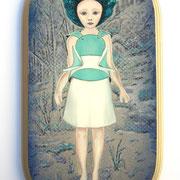 I want it,  2010, Öl auf Holz, 36 x 18,5 cm