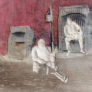 Sylt, 2014, Pappel Mixed Media, ca. 56 x 52 x 7 cm