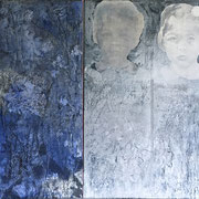 blue (Diptychon) 2018 Acryl auf Leinwand 120 x 60 cm          120 x 80 cm